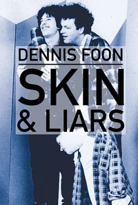 "Image three men with the words ""Skin"" and ""Liars"""