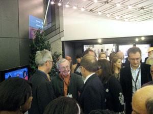Dennis Foon with Roger Ebert.