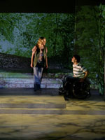 Photo from the play Rick: The Rick Hansen Story