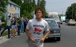 Photo of Terry Fox running in a marathon.